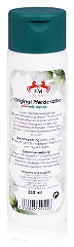 PFERDESALBE FM Sport plus Minze 250 ml Salbe | Wärmende Pferdesalbe für Pferde und Menschen
