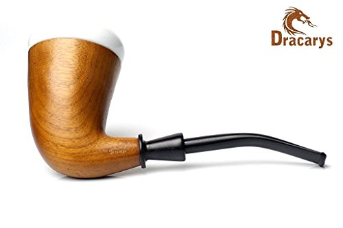 Dracarys Pipes Fumer du Tabac Pipe Pour Bois Sherlock Holmes Style Calabash Porcelain Tobacco Wood Smoking Pipe