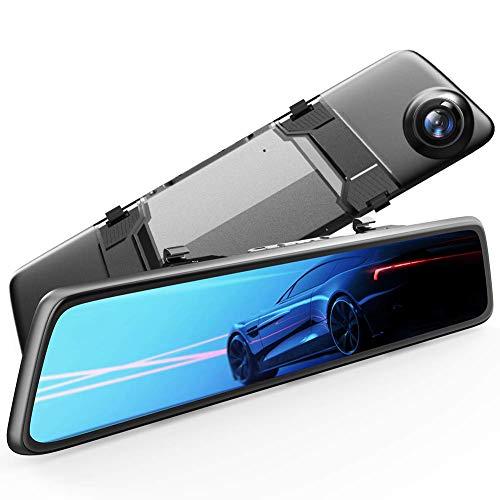 ドライブレコーダー 2.5K SONY センサー GPS 12インチ 前後カメラ VANTOP VX201 高画質ミラー型最大128GB対...