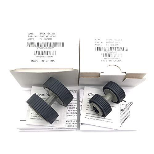 OKLILI PA03540-0001 PA03540-0002 Scheibenbremse Roller + Pick Roller Pickup Roller für Fujitsu fi-6240z fi-6140z fi-6230z fi-6130z fi-6240 fi-6140 fi-6230 fi-6130 fi-6125 fi-6225