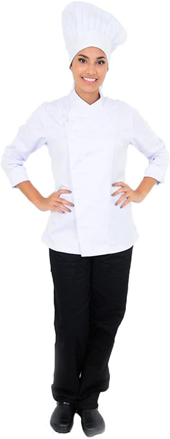 DAM Uniforms Women′s Long Sleeves Executive Chef Coat