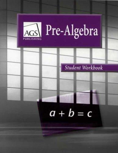 Pre Algebra Student Workbook