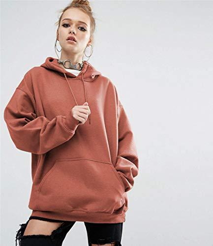 Rydqf – Sudadera para mujer, talla grande, con capucha, diseño asimétrico, plisado, manga larga hqx-354 Camel B. XXL