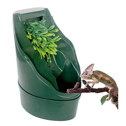Reptil Fuente para Beber Cascada automático dispensador de Agua de circulación Tanque de Agua Verde Tortuga Lagarto camaleón Mascota simulada
