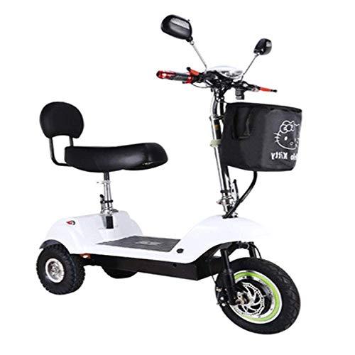 XYDDC Mini Scooter eléctrico Plegable portátil para Adultos/Ancianos Viajes de Placer Scooter eléctrico Plegable de Litio de la batería del Triciclo,D
