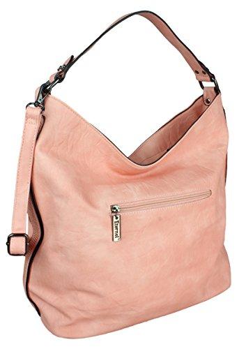 2Store24 Große Damen Handtasche/Umhängetasche/Beuteltasche in pink