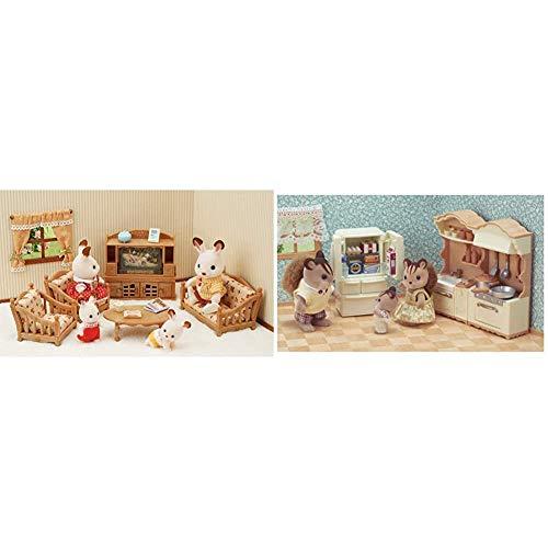 Sylvanian Families - 5339 - Set de salón de hogar + 5341 - Set de Cocina