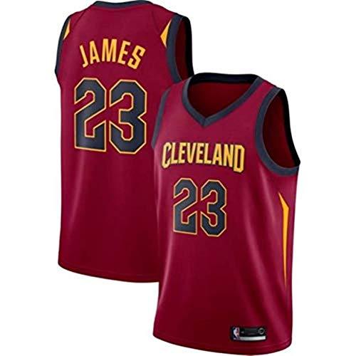 Gflyme Herren Trikot NBA Lebron James - Cleveland Cavaliers # 23, Basketball Jersey Jersey, Sportbekleidung (Color : Red, Size : L)