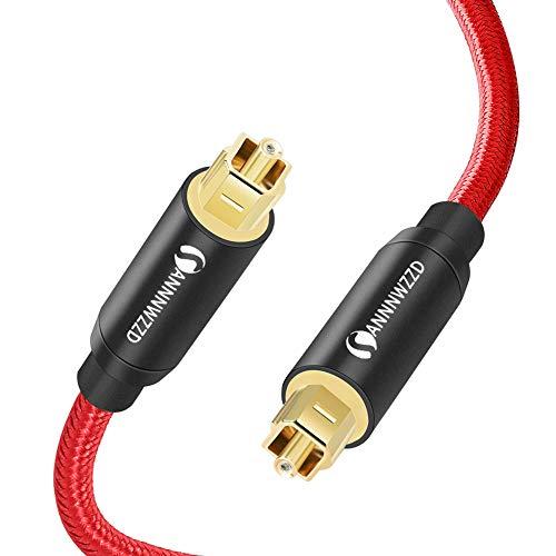 ANNNWZZD - Cavo audio ottico digitale Toslink su Toslink ottico cavo audio per il collegamento di Soundbar, stereo, home theatre, Xbox One e PS4 (2M)