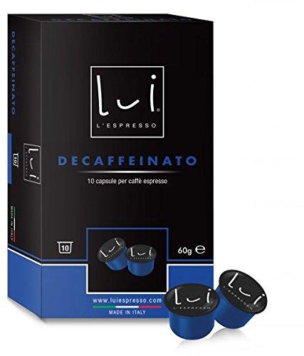Lui Espresso caffè DECA Confezione da 100 capsule (10 astucci da 10 capsule)