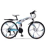 XWDQ VTT Vélo Adulte Pliant 20/24/26 Pouces Double Amortisseur De Vitesse Hors Route Absorbant Les Courses De Vélo Garçons Et Filles,24inch,30speed