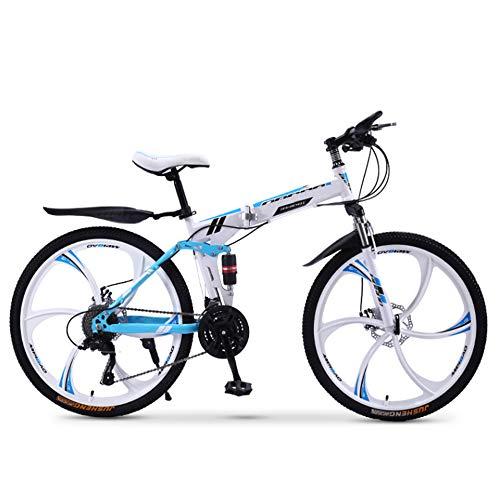 XWDQ Bicicletta da Mountain Bike per Adulti Pieghevole da 20/24/26 Pollici per Bici da Corsa per Ragazzi E Ragazze con velocità off-Road Ammortizzante,20inch,24speed