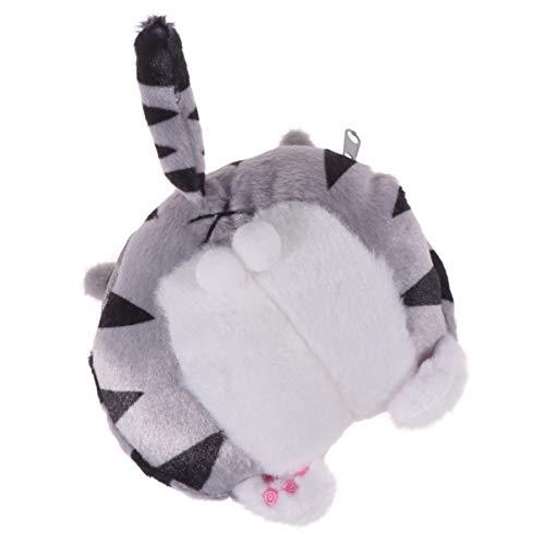 Tendycoco - Monedero de peluche con diseño de gato