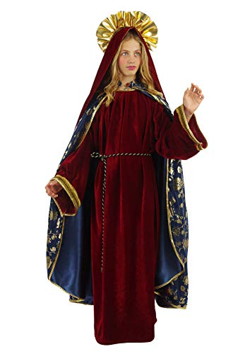 chiber Disfraces Disfraz de Virgen Maria Niña Deluxe (Talla 10 (8-10 años))