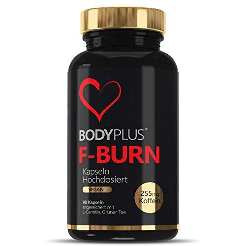 Aanbieding F-BURN BODYPLUS stofwisseling voor vetstofwisseling en energiestofwisseling, 90 veganistische capsules hooggedoseerd met cafeïne L-Carnitine groene thee