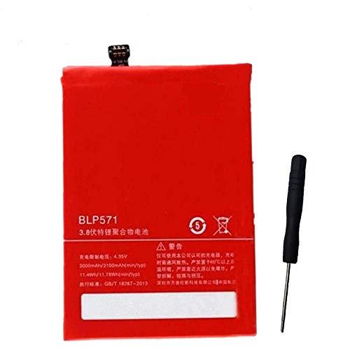 Bright Power - Batería de Repuesto para Oneplus One Battery 3200 mAh BLP571 para OnePlus One Smartphone One Plus One 1 + con Herramientas de instalación