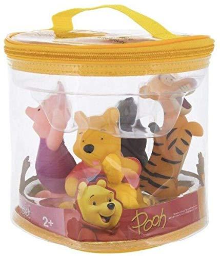 Disney Winnie The Pooh Squeeze Toy Set in Vinyl Storage Bag - 4 Piece