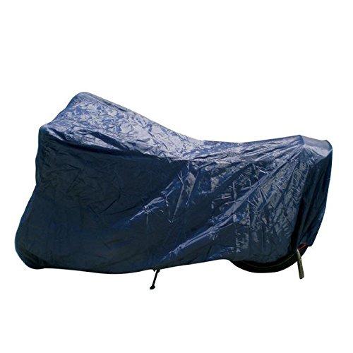 IMDIFA 081 Housse Moto Taille M - 203x89x120 cm Polyester 170g Bleu Foncée