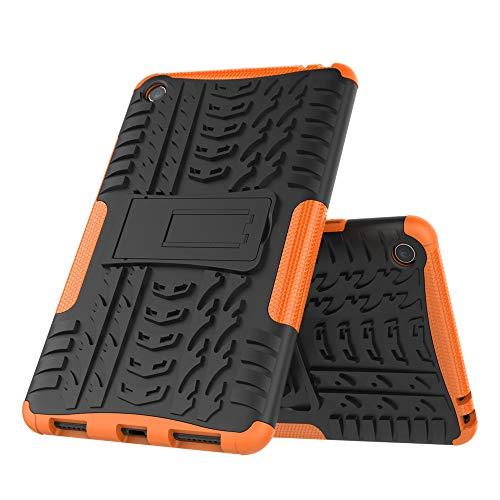 DAYNEW für Xiaomi Mi Pad 4 hülle,2 in 1 Armour Dual Layer Rüstung Defender TPU+PC schützender Zwei-Schichte Armor Design Tasche mit schlagfesten für Xiaomi Mi Pad 4-Orange