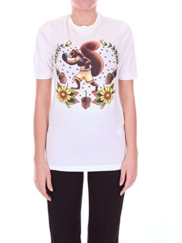 9098X Maglia Uomo Dsquared D2 White Multicolor t-Shirt Man [XS]