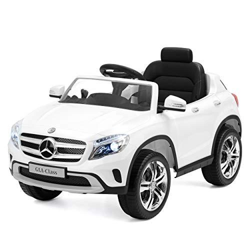 Toyrific- Coche eléctrico para niños, diseño de Mercedes Benz (Producto con Enchufe de UK)