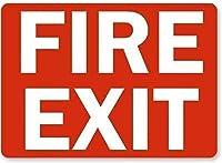 ヴィンテージ再生スズ記号、火災の出口白赤プラークアート金属錫記号