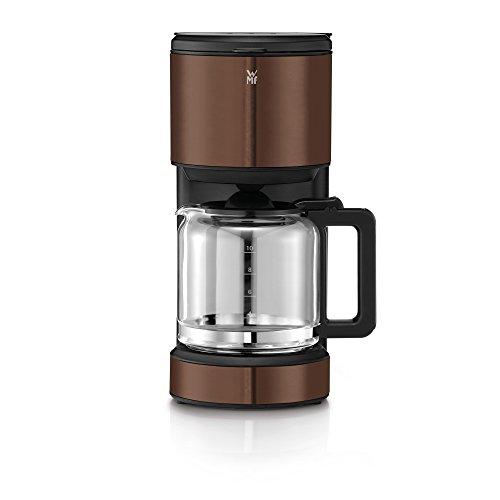 WMF Terra Aroma Kaffeemaschine, mit Glaskanne, Filterkaffee, 10 Tassen, Tropfstopp, Warmhalteplatte, Abschaltautomatik, Braun, 1000 W