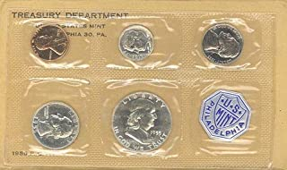 1955 P US Silver Proof Set US Mint Proof Set Original Government Packaging Proof