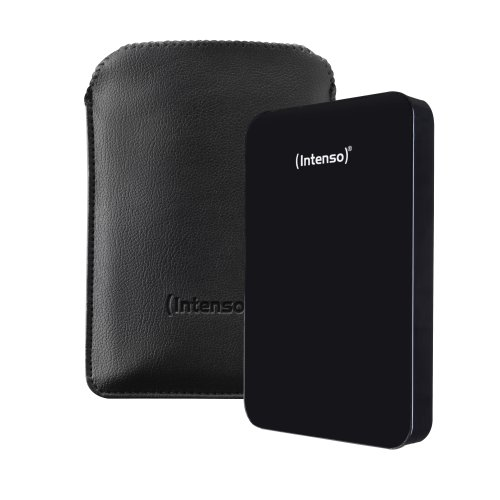 Intenso Memory Drive 500GB externe Festplatte inkl. Tasche (6,4 cm (2,5 Zoll), 5400rpm, 8MB Cache, USB 3.0) schwarz