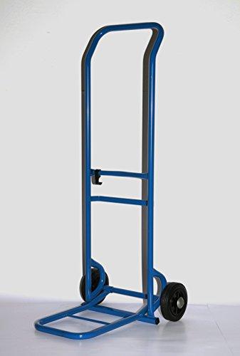 Sackkarre 125 kg 108x44x51 cm, blau, klappbare Schaufel (Transportkarre Stapelkarre Handkarre, Umzugskarre, leichte Sackkarre aus Stahl klappbar für Umzug)