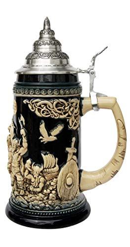 KING Jarra de Cerveza Alemana Vikingo, Jarra 0,75 litros