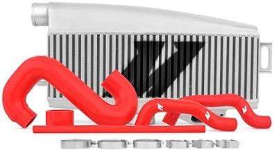 Mishimoto MMTMIC-WRX-01SLRD Subaru WRX/STI Performance Top-Mount Intercooler Kit, Silver Intercooler Red Hoses, 2002-2007