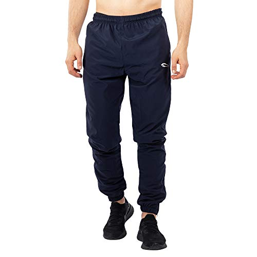 SMILODOX Herren Jogginghose Statement | Trainingshose für Sport Fitness Gym Training & Freizeit | Sporthose - Jogger Pants - Sweatpants Hosen, Farbe:Blau, Größe:S