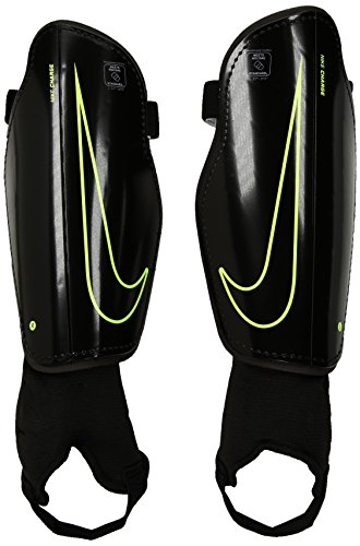 Nike Kinder Charge 2.0 Knieschoner, Black/Volt, S