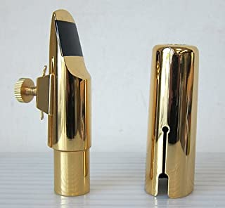 Gold Plated Tenor Saxophone Metal Mouthpiece, #7