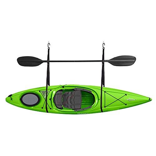 RAD Sportz 2028 Single Kayak Storage Strap Garage Canoe Hoists 55 lb Capacity , Black