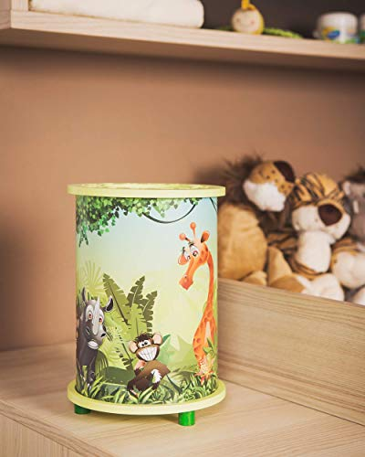 Elobra Kinderzimmerleuchte, Holz, E14, lindgrün, 19 x 19 x 24 cm