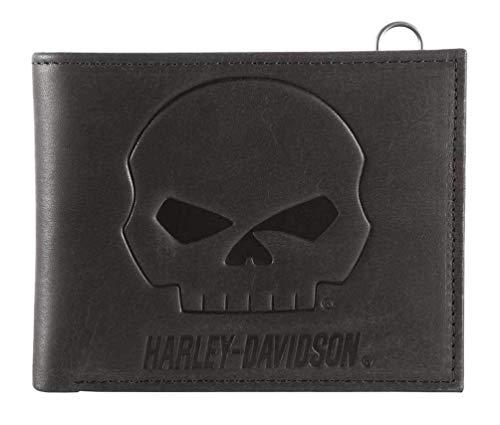 HARLEY-DAVIDSON Herren Brieftasche Geldbeutel Portemonnaie Gestanztes Logo