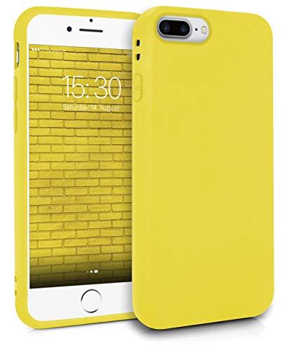 MyGadget Friendly Pocket Custodia TPU per Apple iPhone 7 Plus / 8 Plus - Case Morbida Bordi Rinforzati Cover Silicone Antiurto e AntiGraffio - Giallo