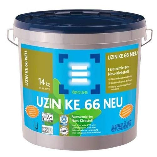 Uzin KE 66 Ökoline Faserarmierter Vinyl/PVC Klebstoff 14 KG