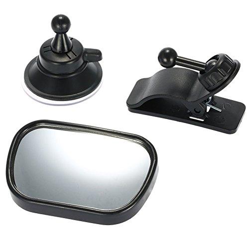 Romsion Spiegels & Accessoires 2 in 1 Mini Veiligheid Auto Achterbank Baby View Spiegel Verstelbare Baby Achterzijde Convex Spiegel