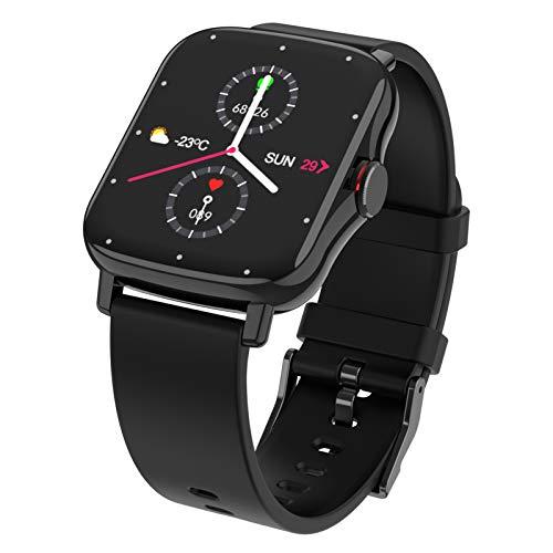 FMSBSC Smartwatch Mujer Reloj Inteligente Elegante Llamada Bluetooth Soporte para Hacer/contestar Llamadas telefónicas Monitor de Sueño Pulsómetros, 8 Modos Deportivos Fitness Tracker,Negro