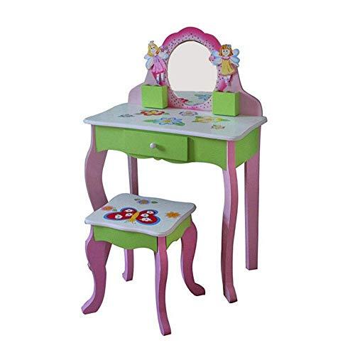 Living Equipment Dressing Table Kids Set Vanity And Stool - Table et chaise pour enfants avec miroirs et rangement pour tiroir de maquillage Meubles de chambre d'enfants (couleur: rose taille: 88,5