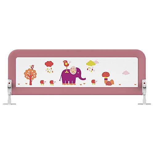 JYW-coverS Barrière de lit Enfant,Balancer vers Le Bas sécurité Garde de Rail, Convient à lit de bébé, lit Double, lit de Reine des Gamins Garde de Protection,Rose,180cm
