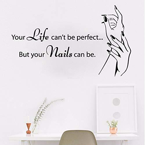 Ayhuir Autocollant Mural Pour Ongles, Ongles De Salon, Autocollants Muraux, Ongles, Ongles Polonais, Manucure, Pédicure, Salon De Beauté