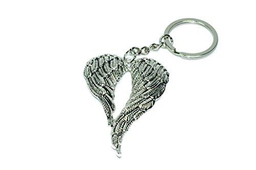 Doppel Engel Flügel Schlüsselanhänger Schutzengel | Glücksbringer | Geschenk für Frauen | Damen | Gott | Kirche | Glaube | Beten | Jesus