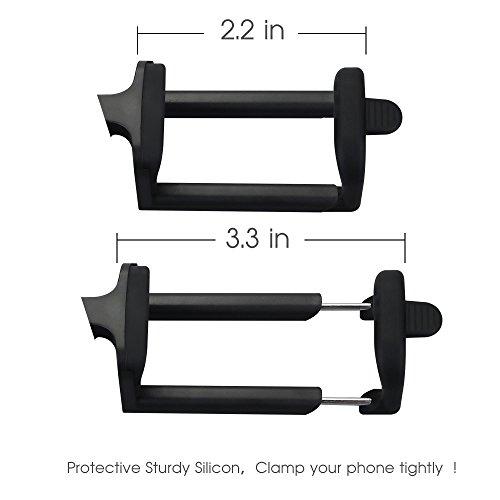 Mpow iSnap Pro X - Palo Selfie Bluetooth Monopod Extensible Remoto Portátil Antideslizante Universal para Selfie con Obturador Integrado y Correa para iPhone8/ iPhone7, iPhone7 Plus/iPhone 6Plus/6s/5/4S/4, iPad 3/2, mini iPad, Color rosa