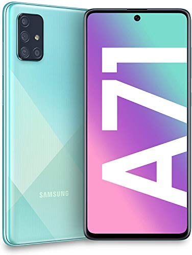 Samsung Galaxy A71 (SM-A715F/DS) Dual SIM 4G LTE 128GB, GSM Factory Unlocked - International Version - No Warranty - Blue