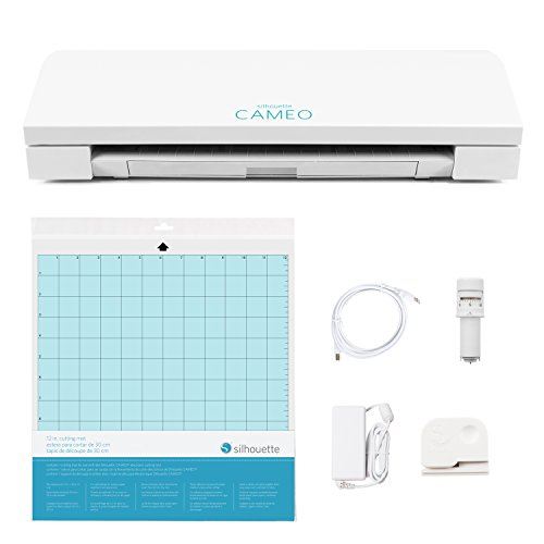 Silhouette Wireless Cutting Machine-AutoBlade-Dual Carriage-Studio Software, 12, CAMEO 3 - Classic White Edition