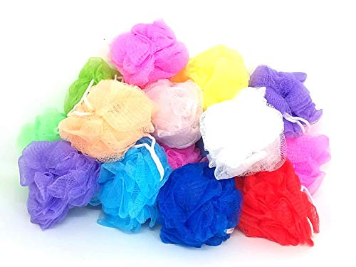 Loofah Lord 20 Small Full Bodied Quality Bath or Shower Sponge Loofahs Pouf Mesh Assorted Colors Wholesale Bulk Lot